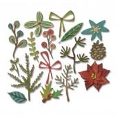 Набор ножей для вырубки Sizzix FUNKY FESTIVE зимние растения