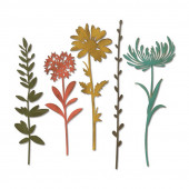 Набор ножей для вырубки Sizzix WILDFLOWER STEMS #1 полевые травы