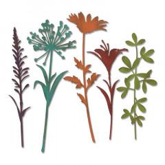 Набор ножей для вырубки Sizzix WILDFLOWER STEMS #2 полевые травы