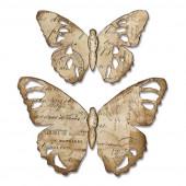 Нож для вырубки Sizzix TATTERED BUTTERFLY BIGZ DIE бабочка