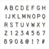 Набор ножей для вырубки Sizzix ALPHANUMERIC LABEL алфавит