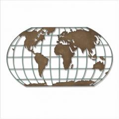 Нож для вырубки Sizzix DESTINATION карта мира