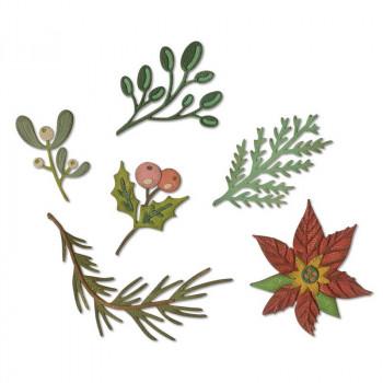 Набор ножей для вырубки Sizzix LARGE FUNKY FESTIVE большие зимние растения
