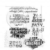 Набор резиновых штампов Tim Holtz FADED TYPE