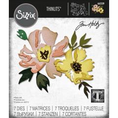 Набор ножей для вырубки Sizzix BRUSHSTROKE FLOWERS #1