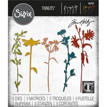 Набор ножей для вырубки Sizzix WILDFLOWER STEMS #3