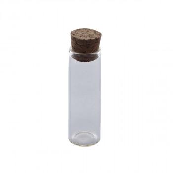 Бутылочка стеклянная с пробкой Рукоделие 5см