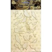 Тканевые стикеры Рукоделие ПТИЦЫ