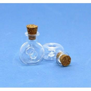 Бутылочка стеклянная с пробкой Рукоделие 2,4см
