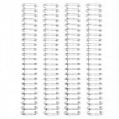 Пружины для биндера We R Memory Keepers 2,54см SILVER 4шт цвет серебро
