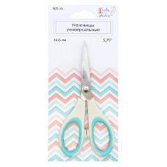 Ножницы Crafty Tailor УНИВЕРСАЛЬНЫЕ 14,6см (пластиковые ручки с резиновыми вставками)