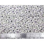 Ткань лоскутная с сиреневыми цветочками отрез 48х50см новая (распродажа)