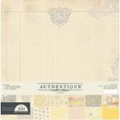 Набор бумаги Authentique BE(YOU)TIFUL 30х30 12 листов, наклейки и высечки, новый (распродажа)