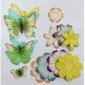 Украшения бабочки и цветы мальбери б/у 17 шт (распродажа)
