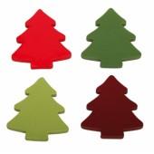 Набор деревянных фигурок Rayher Елки 3 см  16 шт (4 цвета по 4 шт) новые (распродажа)