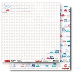 Лист бумаги для скрапбукинга Scrapberry's БИП-БИП коллекция Зайка Ми Малыши 30х30см