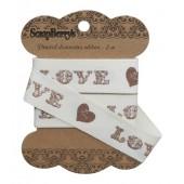 Лента декоративная Scrapberry's LOVE