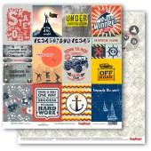 Лист бумаги для скрапбукинга Scrapberry's КАРТОЧКИ 1 коллекция Мужские хобби 30х30см