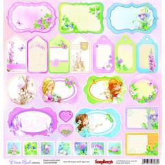Лист бумаги для скрапбукинга Scrapberry's КАРТОЧКИ 2 коллекция Волшебная страна 30х30см