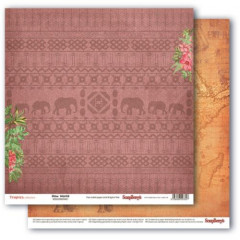 Лист бумаги для скрапбукинга Scrapberry's ДИВНЫЙ МИР коллекция Тропикана 30х30см