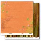 Лист бумаги для скрапбукинга Scrapberry's ЭВКАЛИПТ И БАМБУК коллекция Тропикана 30х30см