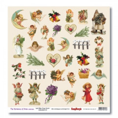 Лист бумаги для скрапбукинга Scrapberry's КАРТОЧКИ 1 коллекция Новогодний Пейзаж 30х30см