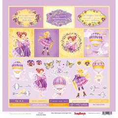 Лист бумаги для скрапбукинга Scrapberry's КАРТОЧКИ 2 коллекция Навстречу грезам 30х30см