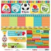 Лист бумаги для скрапбукинга Scrapberry's КАРТОЧКИ 1 коллекция Футбол 30х30см