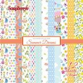 Набор бумаги для скрапбукинга Scrapberry's МЕЧТЫ О ЛЕТЕ 15х15см