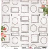 Лист бумаги для скрапбукинга Scrapberry's БАГЕТ коллекция Элегия 30х30см