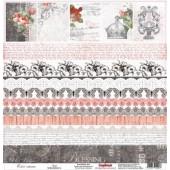Лист бумаги для скрапбукинга Scrapberry's ЭЛЕГИЯ коллекция Элегия 30х30см