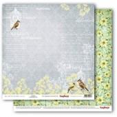 Лист бумаги для скрапбукинга Scrapberry's О, ЭТА ЛЮБОВЬ коллекция Разрисованная Вуаль 30х30см