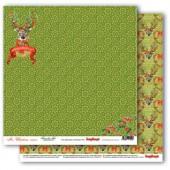 Лист бумаги для скрапбукинга Scrapberry's РОЖДЕСТВЕНСКИЙ ОЛЕНЬ коллекция Рождественская Омела 30х30см
