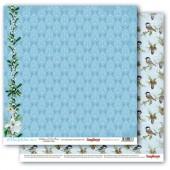 Лист бумаги для скрапбукинга Scrapberry's ОМЕЛА И ШИШКИ коллекция Вкус Зимы 30х30см