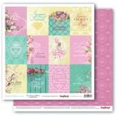 Лист бумаги для скрапбукинга Scrapberry's КАРТОЧКИ коллекция Драгоценности 30х30см