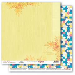 Лист бумаги для скрапбукинга Scrapberry's ГОЛОВОЛОМКА коллекция Школьная Пора 30х30см
