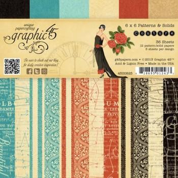 Набор бумаги для скрапбукинга Graphic45 COUTURE 15х15см