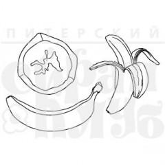 Набор штампов Питерского Скрапклуба БАНАНЫ