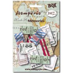 Набор декоративных элементов из бумаги Stamperia БИЛЕТЫ