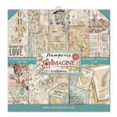 Набор бумаги для скрапбукинга Stamperia IMAGINE 30х30см