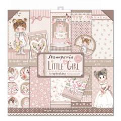 Набор бумаги для скрапбукинга Stamperia LITTLE GIRL 30х30см