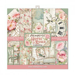 Набор бумаги для скрапбукинга Stamperia HOUSE OF ROSES 20х20см