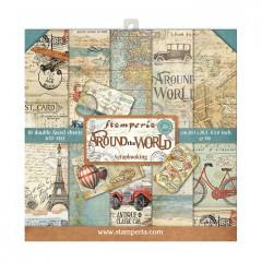 Набор бумаги для скрапбукинга Stamperia AROUND THE WORLD 20х20см