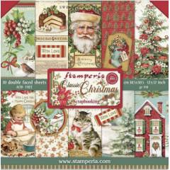 Набор бумаги для скрапбукинга Stamperia CLASSIC CHRISTMAS 30х30см