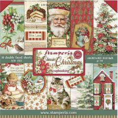 Набор бумаги для скрапбукинга Stamperia CLASSIC CHRISTMAS 20х20см
