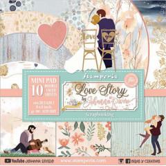 Набор бумаги для скрапбукинга Stamperia LOVE STORY 20х20см