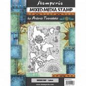 Штамп резиновый для микс медиа Stamperia VINTAGE MAP