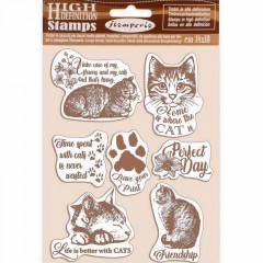 Набор резиновых штампов Stamperia CATS