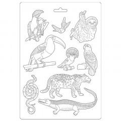 Форма для моделирования Stamperia SOFT MOULD A4 AMAZONIA ANIMALS