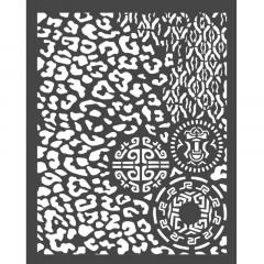 Трафарет 3D эффект Stamperia AMAZONIA ANIMALIER WITH TRIBALS